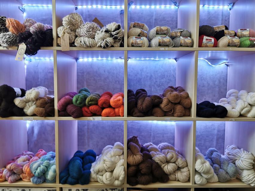 Wolle von Alpakas