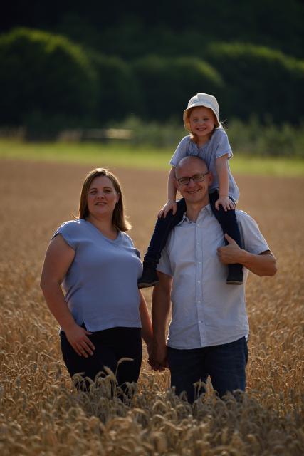 Sibylle und Rainer Merz mit Tochter Jana