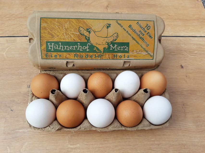 Wer will, kann sich die Eier auch nach Hause liefern lassen