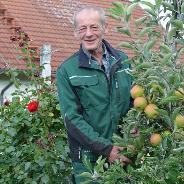 Herbert Erlwein ist mit Leib und Seele Obstbauer
