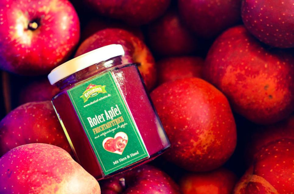 Im roten Apfelgelee ist kein Gramm Farbstoff drin