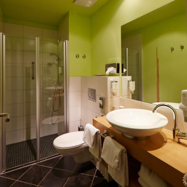 Badezimmer Hotel Stempferhof