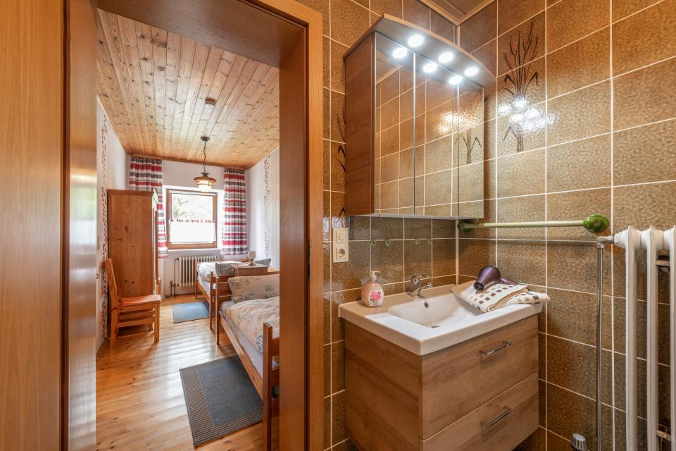 Badezimmer Ferienwohnung Freienfels