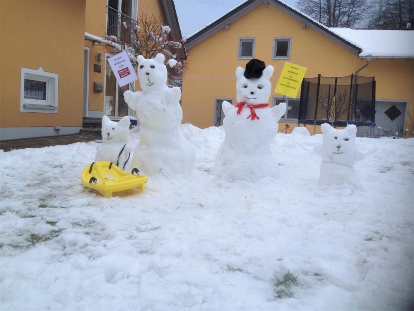 Gästehaus im Lochautal in Winter