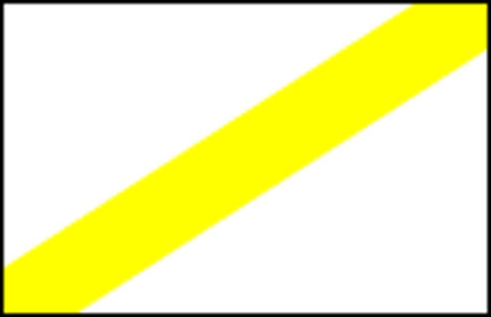 """Markierung """"Gelber Diagonalstrich"""""""