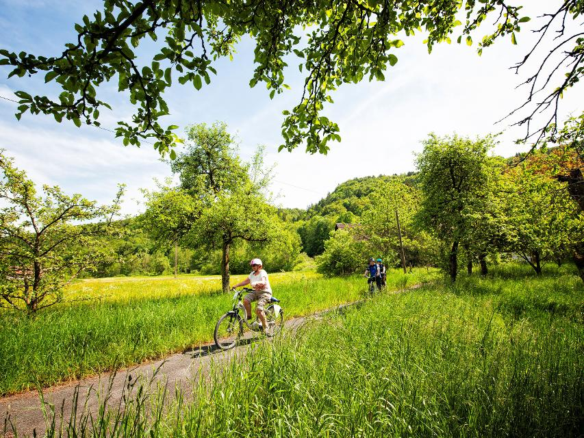 Radfahren im idyllischen Wiesenttal