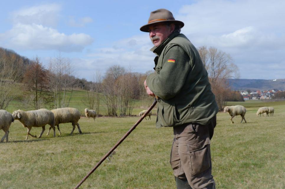 Er ist einer der letzten Wanderschäfer in Süddeutschland - Georg Distler aus Egloffstein