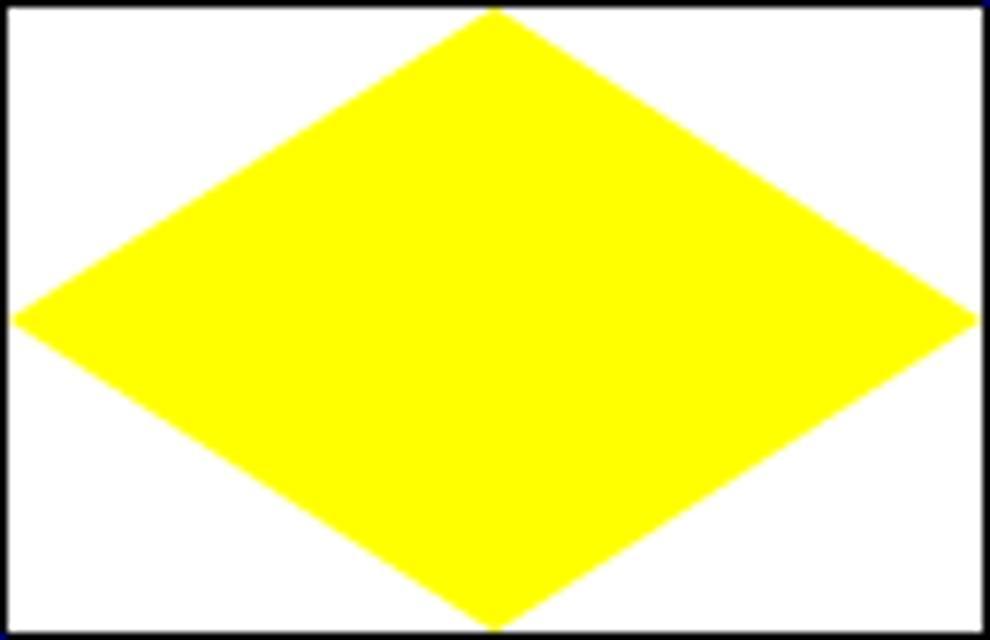 Gelbe Raute Markierungszeichen