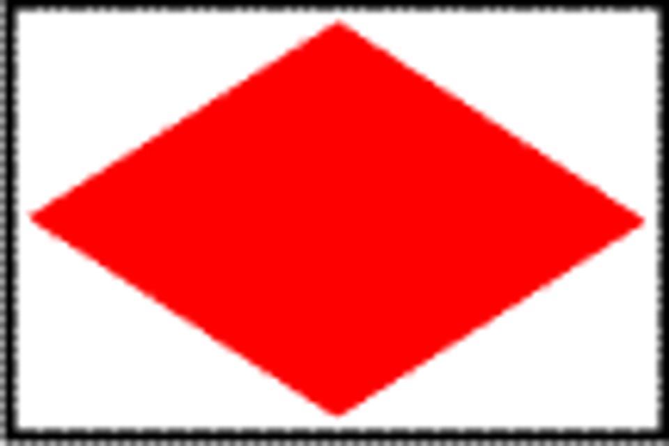 Markierungszeichen Rote Raute