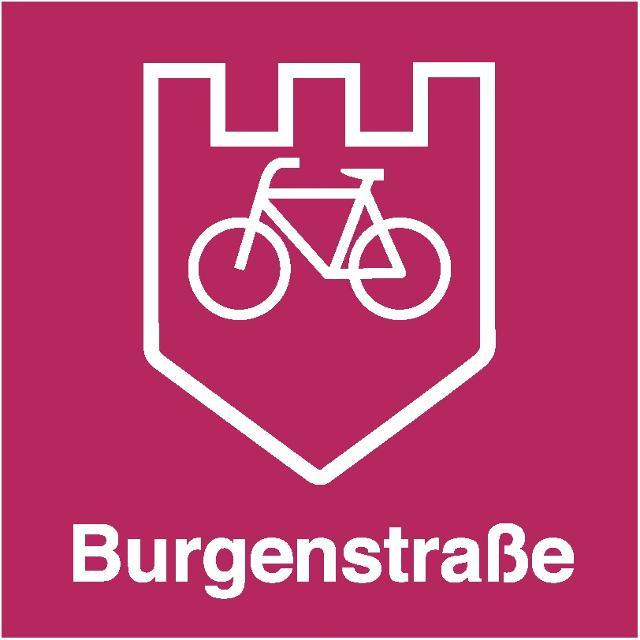 Burgenstraße Radschild