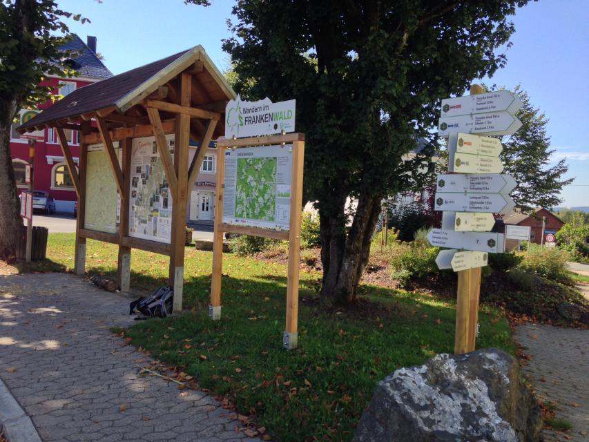 Ausgangspunkt FrankenwaldSteigla Dreierknock