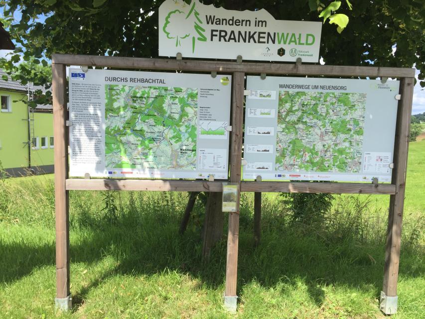 Ausgangspunkt FrankenwaldSteigla Durchs Rehbachtal