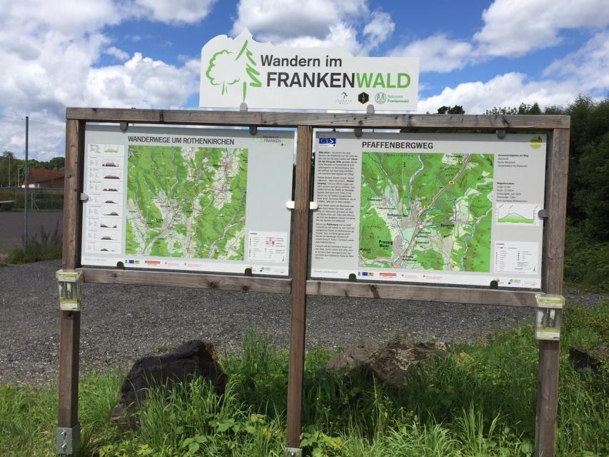 Ausgangspunkt FrankenwaldSteigla Pfaffenbergweg