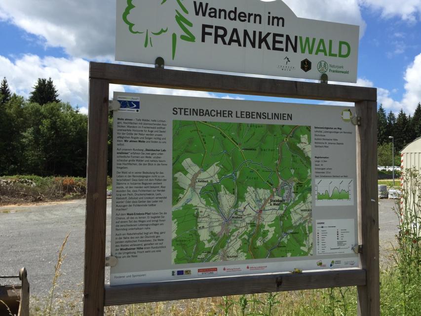 Ausgangspunkt FrankenwaldSteigla Steinbacher Lebenslinien