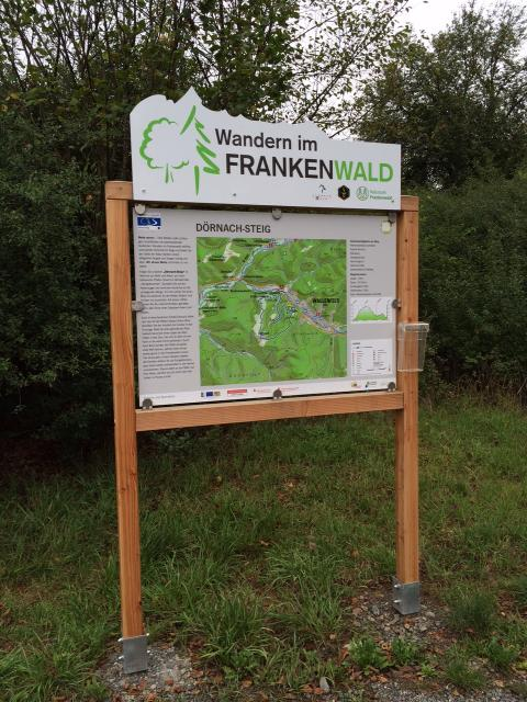 Ausgangspunkt FrankenwaldSteigla Dörnach-Steig