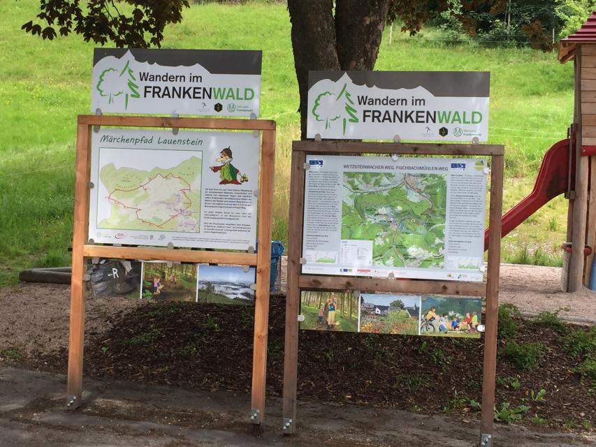 Ausgangspunkt FrankenwaldSteigla Fischbachmühlen-Weg