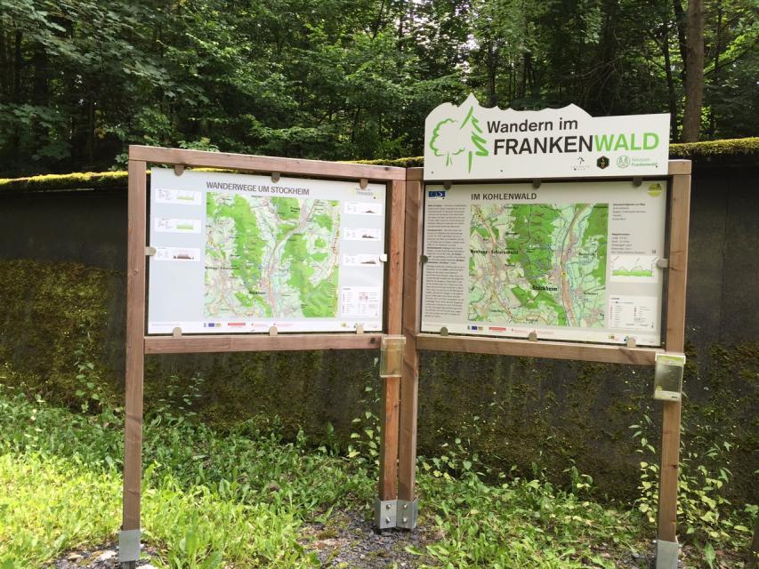 Ausgangspunkt FrankenwaldSteigla Im Kohlenwald