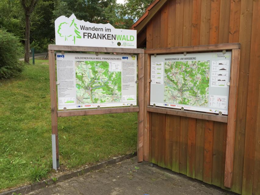 Ausgangspunkt FrankenwaldSteigla Goldener-Falk-Weg