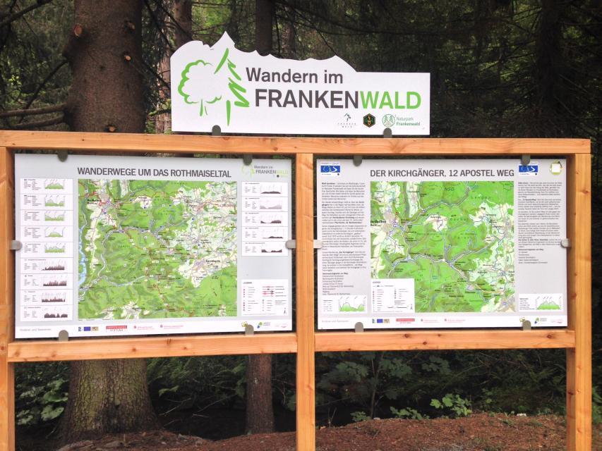 Ausgangspunkt FrankenwaldSteigla 12-Apostel-Weg
