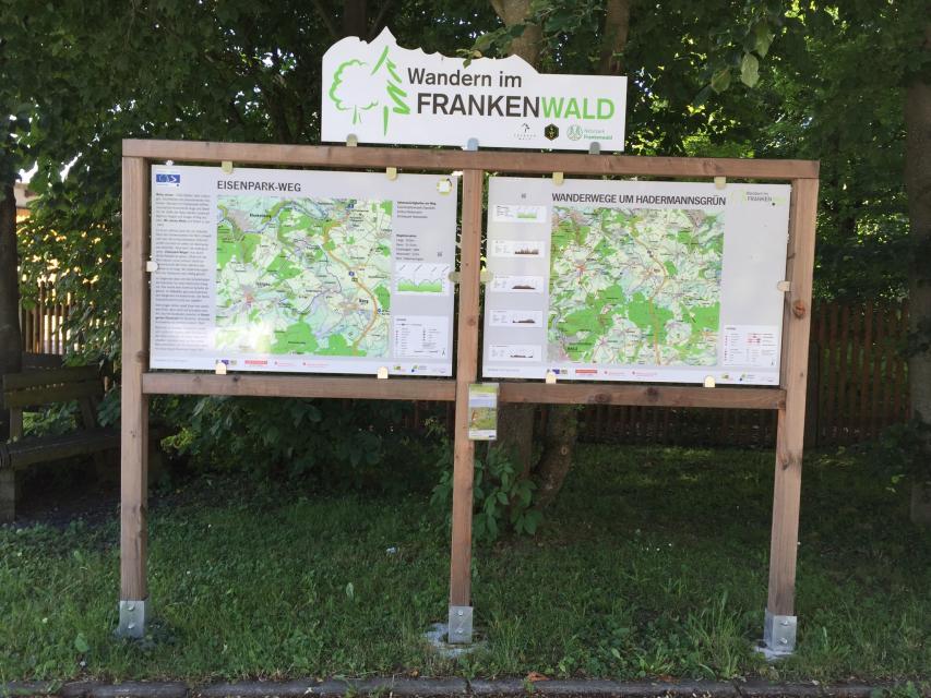 Ausgangspunkt FrankenwaldSteigla Eisenpark-Weg
