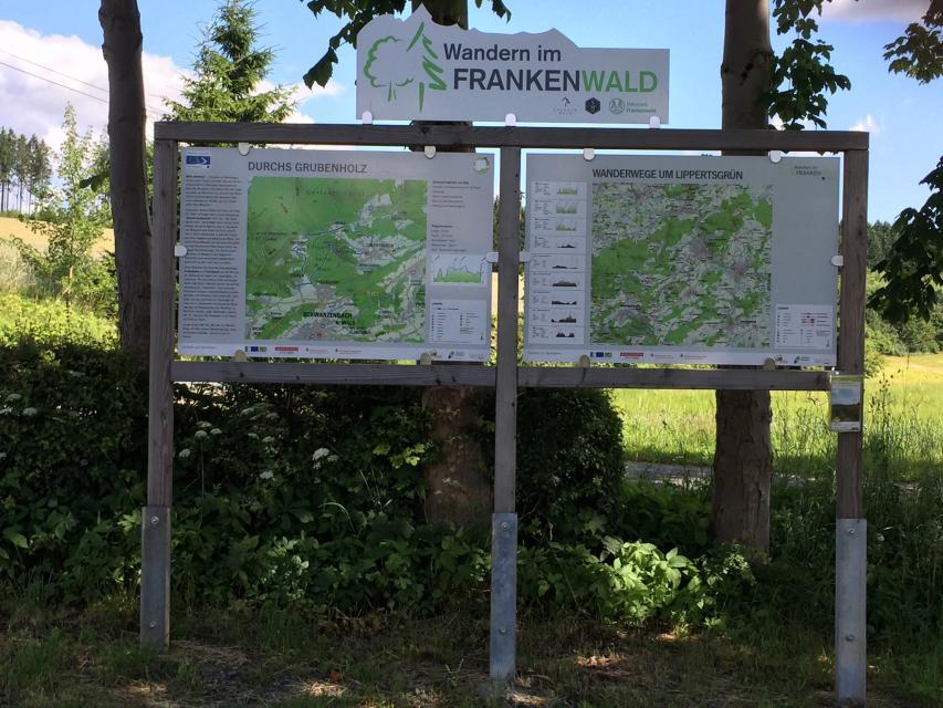 Ausgangspunkt FrankenwaldSteigla Durchs Grubenholz