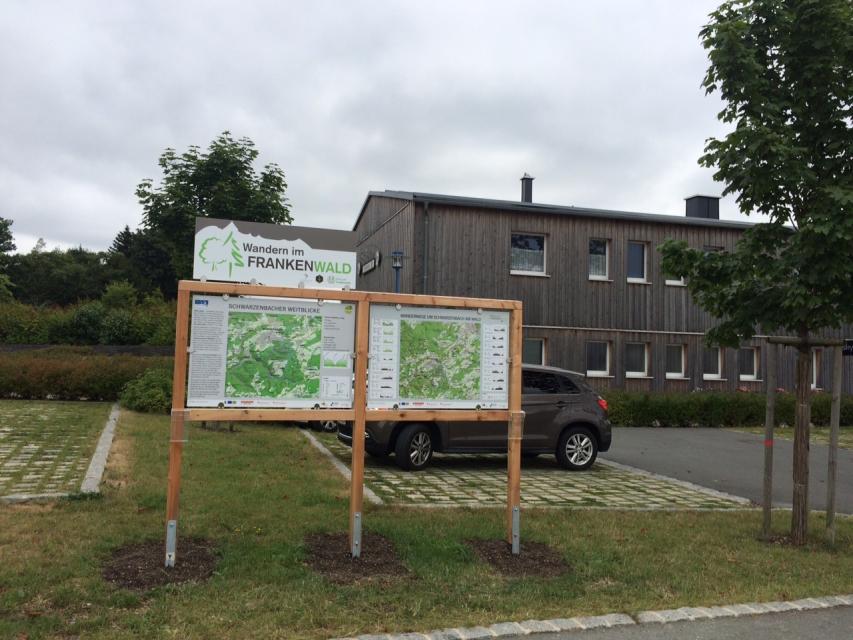 Ausgangspunkt FrankenwaldSteigla Schwarzenbacher Weitblicke