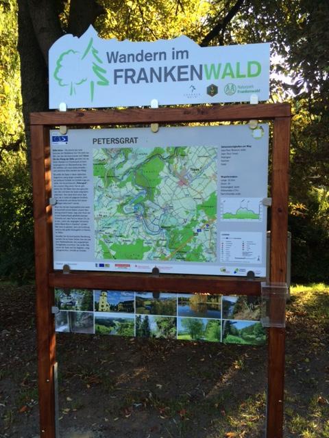 Ausgangspunkt FrankenwaldSteigla Petersgrat