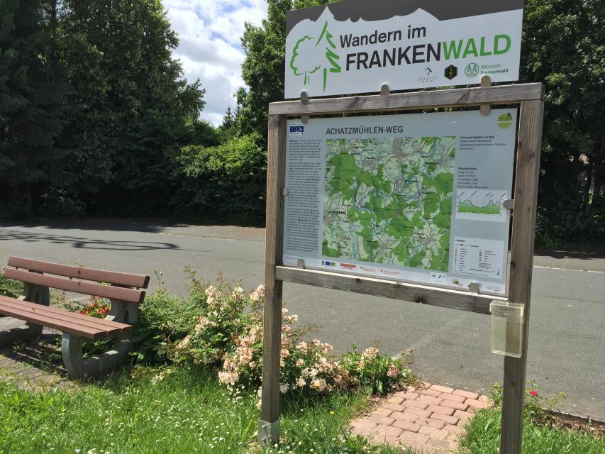 Ausgangspunkt FrankenwaldSteigla Achatzmühlen-Weg