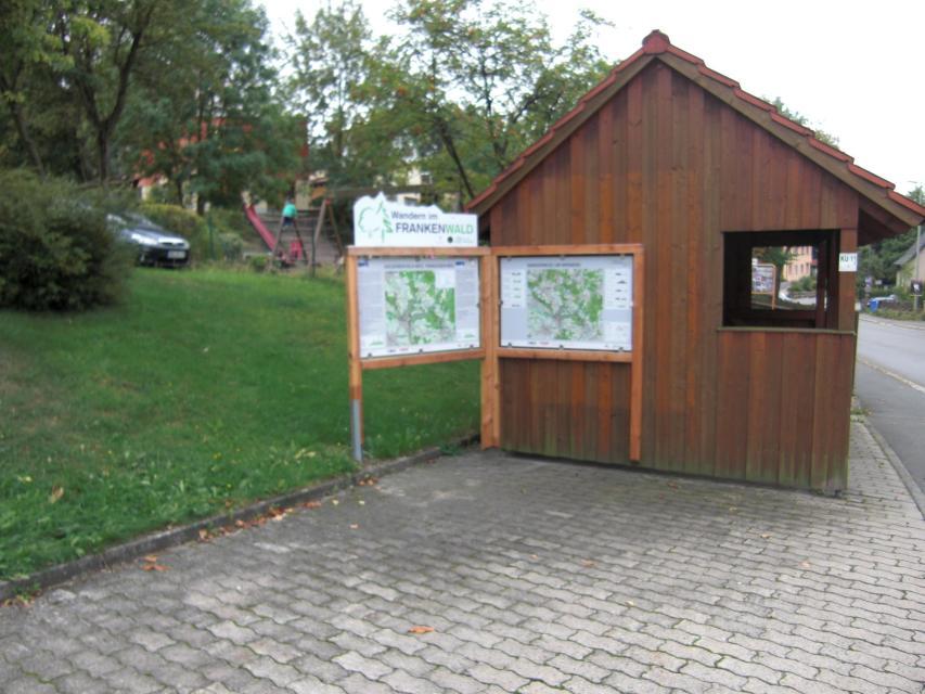 Ausgangspunkt FrankenwaldSteigla Franzosen-Weg