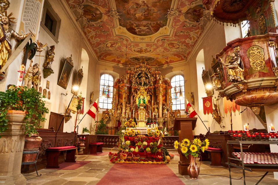 In der Wallfahrtskirche Maria Geburt