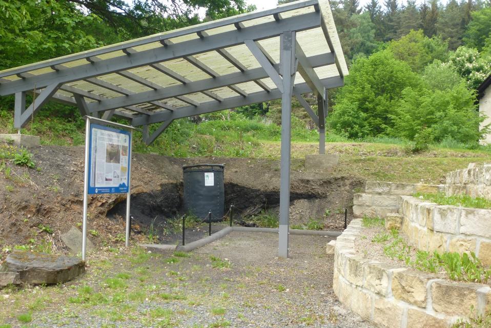 Geotop Stockheimer Steinkohle mit Kohlenflöz