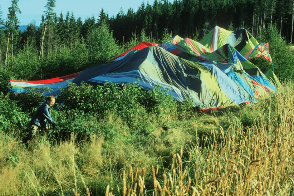 Landeplatz des Fluchtballons