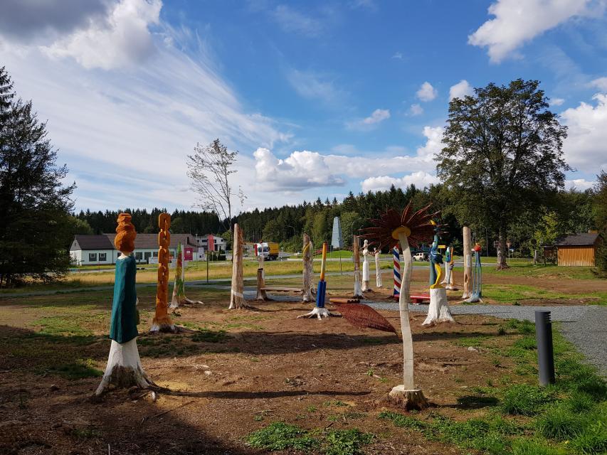 Der KunstPark am Rennsteig in Steinbach am Wald