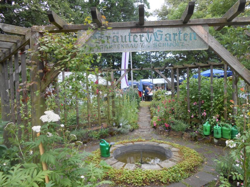 Historisches Rondell in der Mitte der Gartenanlage