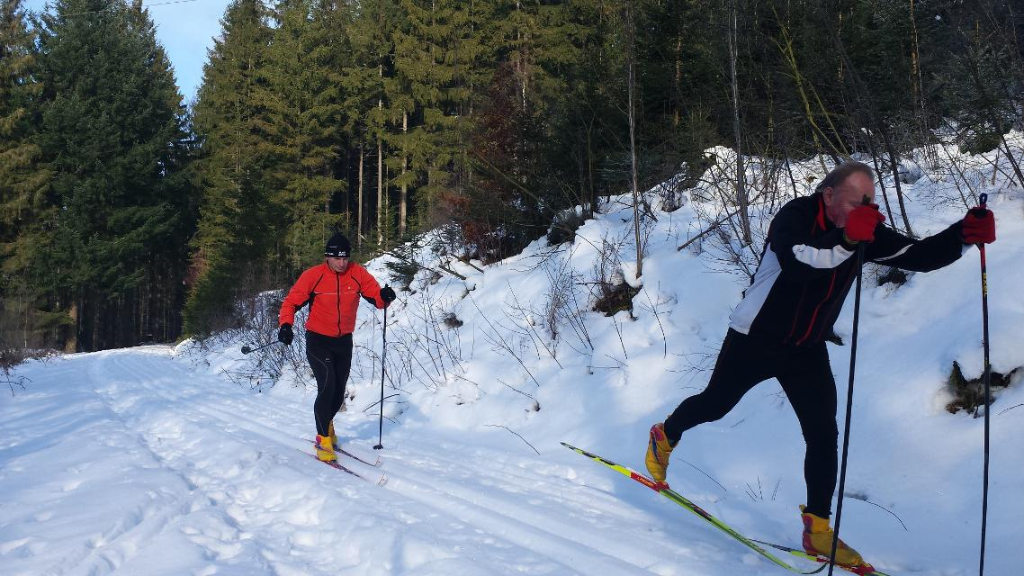 Langlaufen im Frankenwald