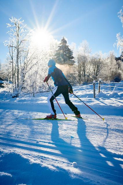 Auf dem Rennsteig Skiwanderweg