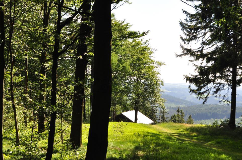oberhalb der Bergwachthütte