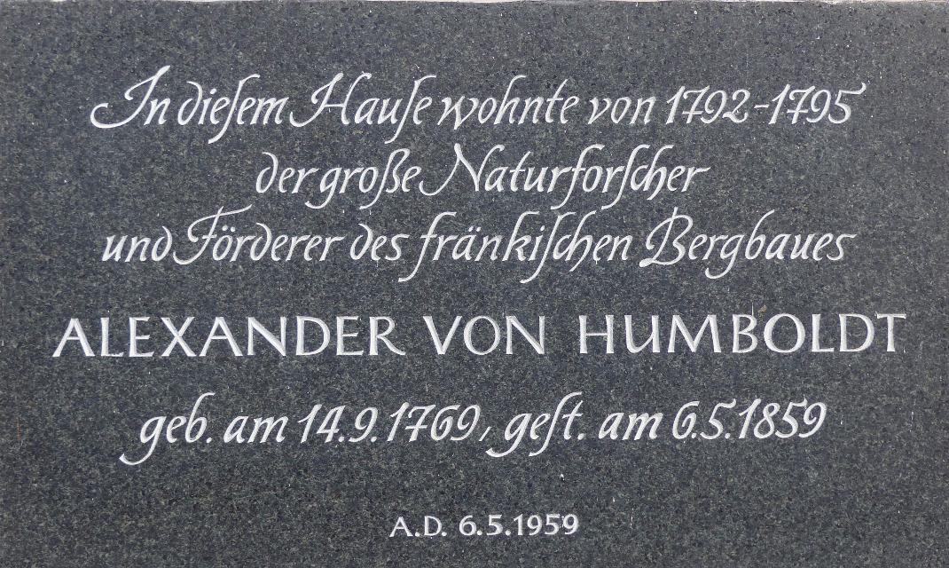 Gedenktafel am Humboldthaus