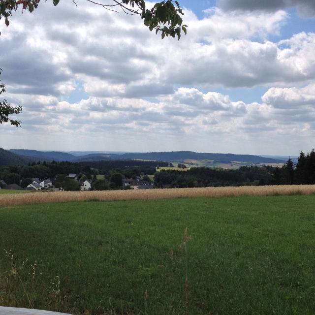 Blick vom Pfaffenberg auf Marienroth und ins Hasslachtal