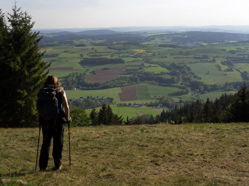 Blick von der Radspitze auf das Obermainsche Bruchschollenland