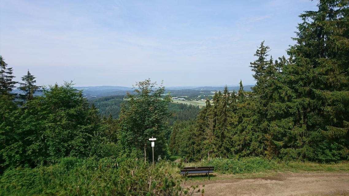 Blick von der Bergwachthütte