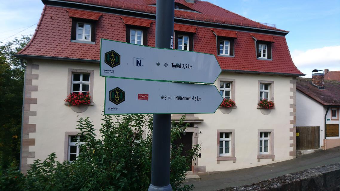 Wegweiser in Guttenberg