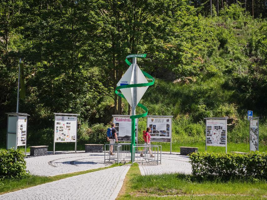 Deutsches Drehkreuz des Wanderns