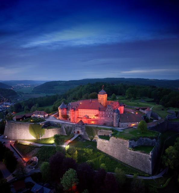 Festung Rosenberg bei Nacht