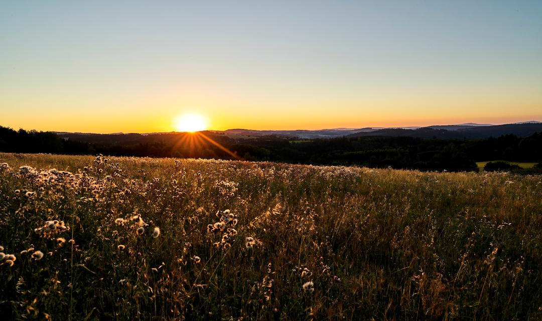 Sonnenaufgang bei Vorderreuth
