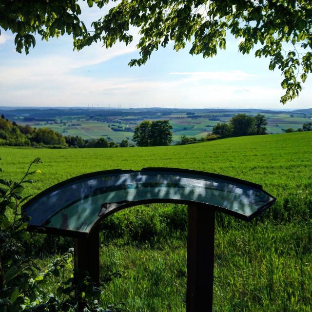 Panoramatafel bei Vorderreuth