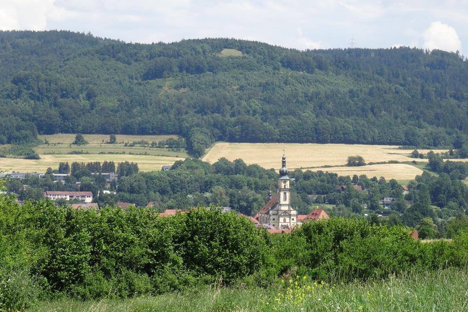 Blick vom Bergfeld auf Stadtsteinach