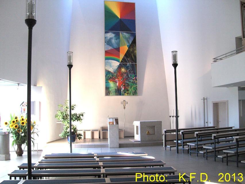 Innenraum St. Christophorus-Kirche