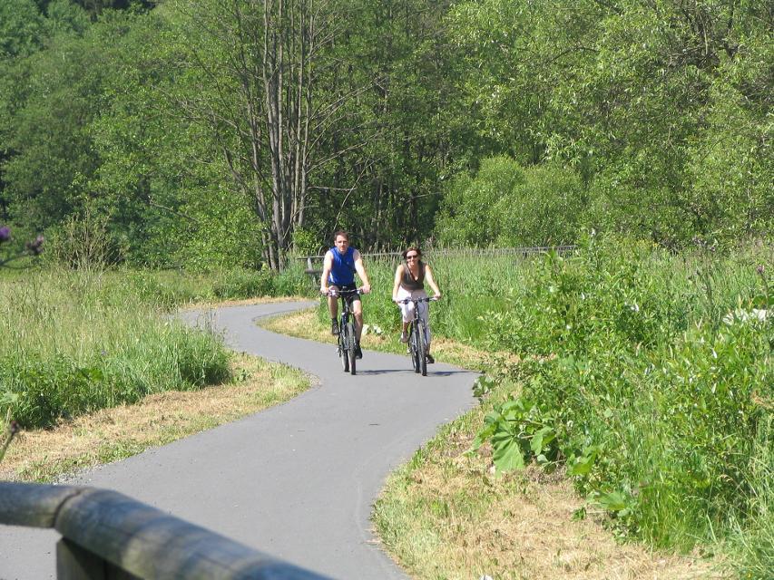 Radfahrer im Leitschtal