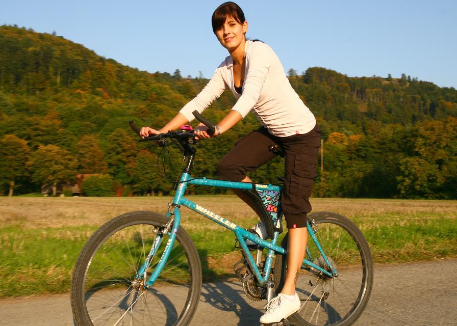 Fahrradfahrerin Stadtsteinach